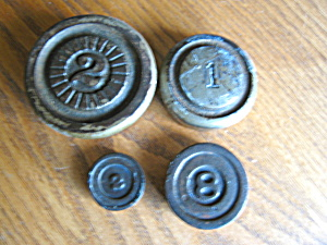 Antique Iron Scale Weights
