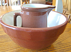 Weller Pottery Pitcher & Bowl