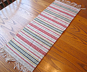 Wool Table Runner Vintage