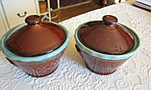 Zanesville Stoneware Covered Jars
