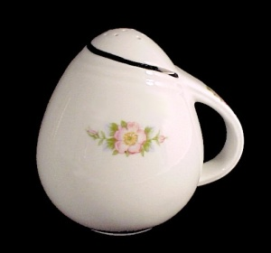 Hall China Rose White Sani Grid Salt Shaker Kitchenware