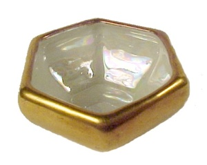 Czechoslovakia China Salt Dip Cellar Gold Gilt Hexagon