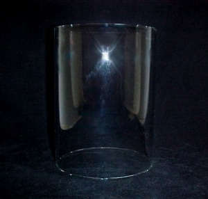Cylinder 4 5/16 X 6 In Tube Glass Light Lamp Shade Candle Holder