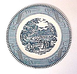 Currier & Ives Bread Butter Plate 6 3/8 In Royal China