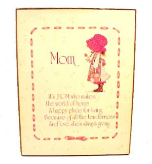 Holly Hobbie Mom Wall Plaque Picture For Mothers Day