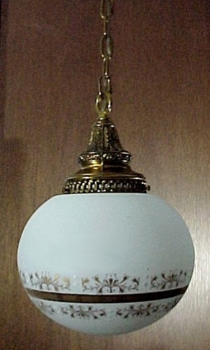 Pendant Light Fixture With Ball Vianne Satin Shade Globe Gold Gilt