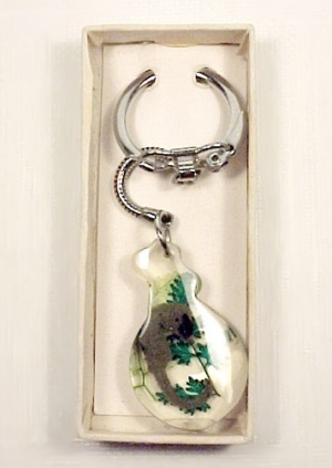 Clear Lucite Seahorse Keychain In Gift Box Vintage