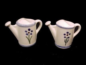 Shawnee Pottery Watering Water Can Salt Pepper Shakers