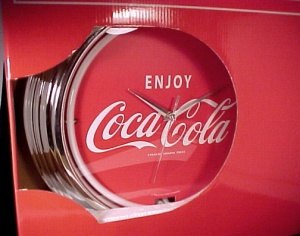 Coca Cola Coke Neon Clock Wall Sign Advertising New In Box