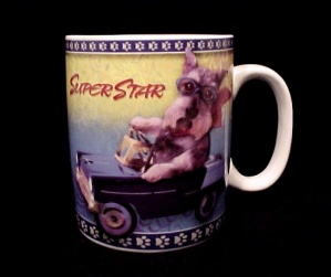 Travel Dogs Fox Terrier Superstar 18 Oz Coffee Mug Cup