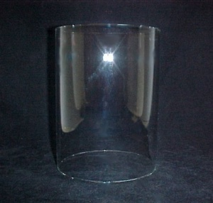 Cylinder 8 X 10.5 In Tube Glass Light Lamp Shade Candle Holder