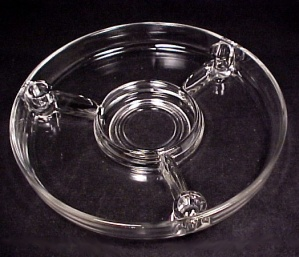 Elegant Centerpiece Console 3 Candle Holders Clear Glass 4 Part