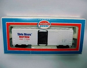 Dinty Moore Beef Stew Ho Scale Train Toy 40' Reefer Car Advertising