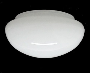 Ceiling Fan Light Shade White Cased Glass Pan 5 3/4 X 3 3/4 X 7