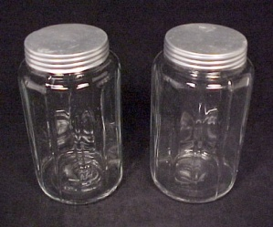 Depression Glass Spice Jar For Hoosier Kitchen Cupboard