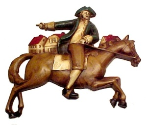 Syroco Wood Paul Revere Wall Plaque July 4 Patriotic