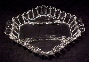 Heisey Crystolite Elegant Depression Glass 3 Prt Relish