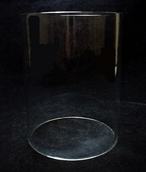 Cylinder 3 3/4 X 5 In Tube Light Lamp Shade Glass Candle Holder
