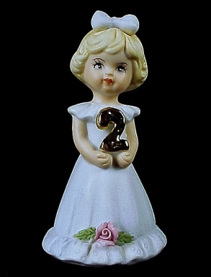 Enesco 1981 Growing Up Birthday Girl 2 Figurine Miniature
