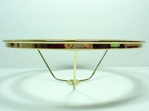 10 In Lamp Shade Holder Solid Brass Polished Lacquer 7/16 Ctr Hole