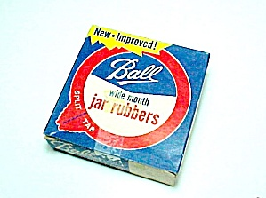 12 Ball Wide Mouth Canning Jar Rubbers New In Box No Upc Code Vintage