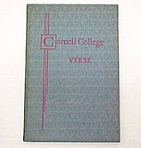 Cornell College Verse Vol 2 Mount Vernon Iowa Ia Poetry