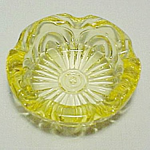 Cambridge Glass Caprice Yellow Individual 3 In Ashtray