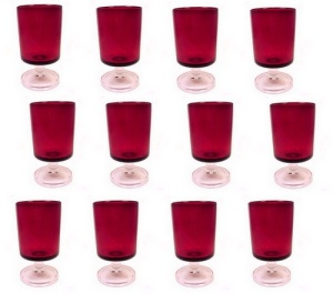 Luminarc Cavalier Ruby Red Footed Juice Glass Tumbler