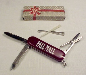 Pall Mall Keychain Pocket Knife Kit Blade Pick Tweezers File Scissors