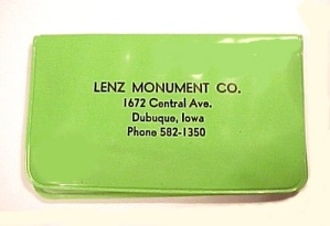 Lenz Monument Advertising Dubuque Ia Lenz Monument Manicure Sewing Kit