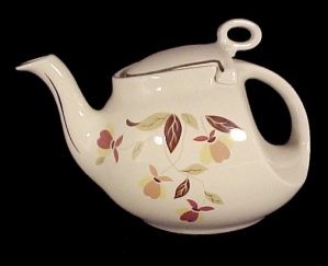 Hall China Autumn Leaf Streamline Teapot Jewel T Tea