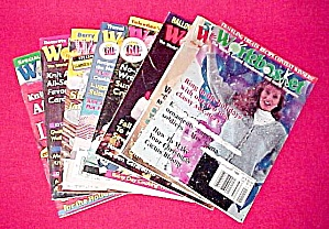 Lot Of 8 Workbasket Magazines Knit Crochet 1994 - 1996