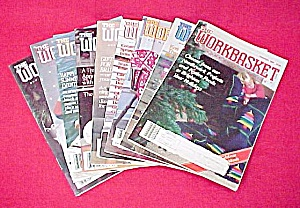 Lot Of 9 Workbasket Magazines Knit Crochet 1988 - 1989