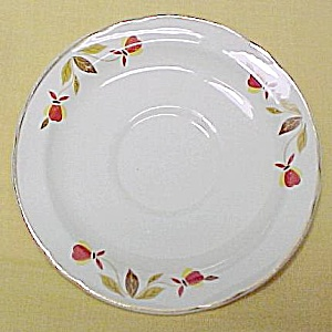 Hall China Autumn Leaf Jewel Tea T Saucer Vintage
