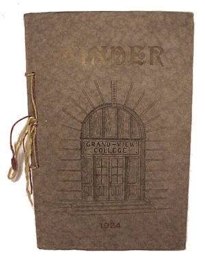Minder 1924 Des Moines Iowa Grandview College Annual Book Yearbook