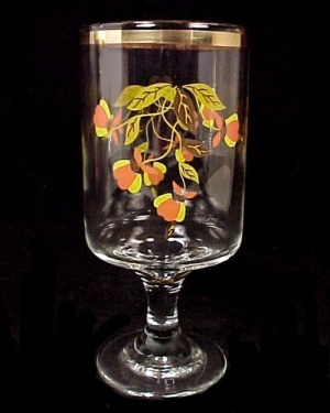 Libbey Glass 1992 Autumn Leaf 11 Oz Water Goblet Jewel T Tea