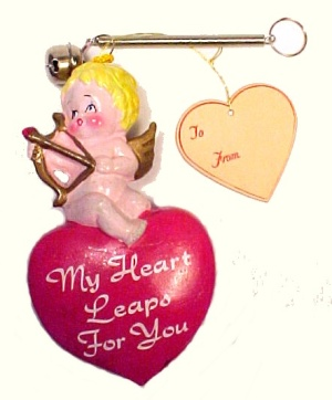 Enesco My Heart Leaps For You Valentine Cupid Figurine