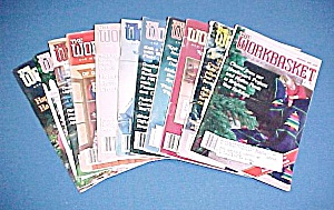 Lot Of 11 Workbasket Magazines Knit Crochet 1985 - 1988