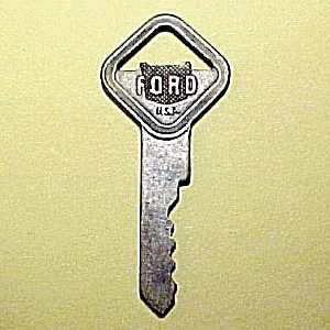 Vintage Ford Motors Car Truck Key Brass Ignition Door Trunk Lock