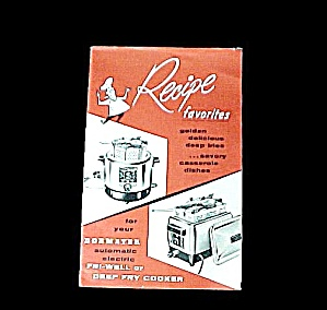 Dormeyer Automatic Electric Fri-well Deep Fry Cooker Recipe Cook Book