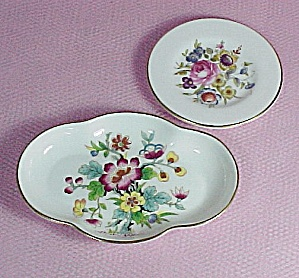 Floral Bone China Dishes Coalport Ming Rose Royal Worcester Butter Pat