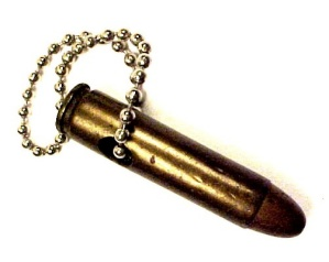 9mm Bullet Keychain Bead Key Chain Fob