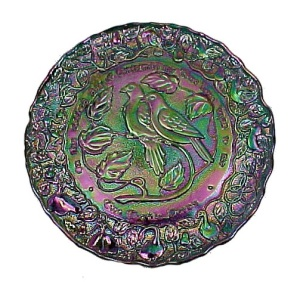 Carnival Imperial Glass Twelve Days Of Christmas Plate 2 Turtle Doves