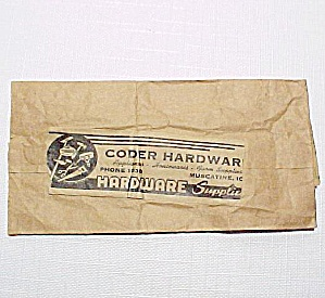Coder Hardware Paper Sack Muscatine Iowa Ia Advertiser