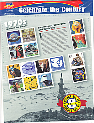 1970s Celebrate The Century Usps Collector Stamps