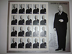 Alfred Hitchcock Legends Of Hollywood Stamps