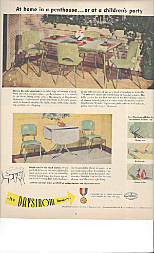 July 1951 Bh&g Magazine Ad For Daystrom Furniture