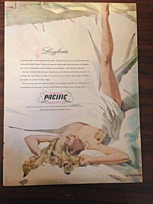Vintage Sexy Ad For Pacific Sheets Artist John Gannan