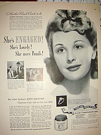 Ponds Vintage Ad From 1942