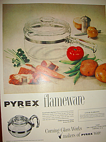 Pyrex Flameware Original Ad
